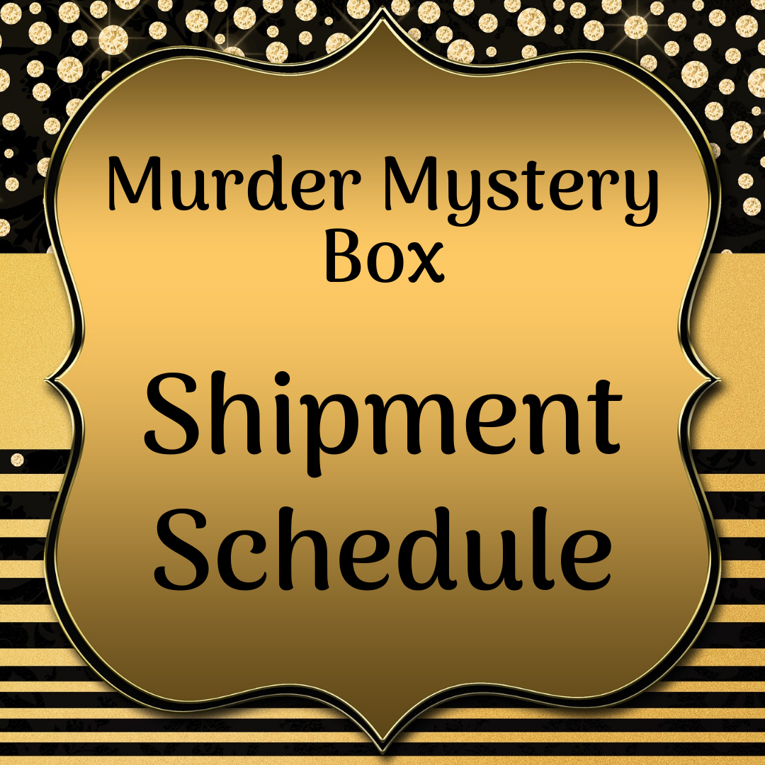 Murder Mystery Subscription Schedule